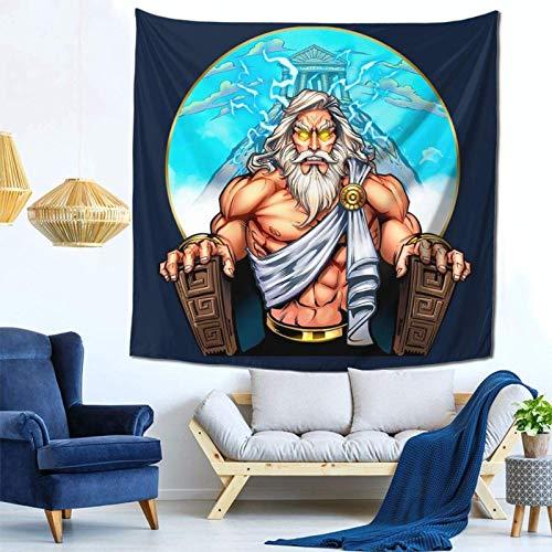 LuoYangShiLaoChengQuTianYuGangCaiXiaoShouBu Zeus auf dem Thron Wandbehang Wandteppich für Wohnzimmer und Schlafzimmer...