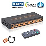 HDMI Switch 4k, HDMI Splitter Switch 5 In 1 Out...