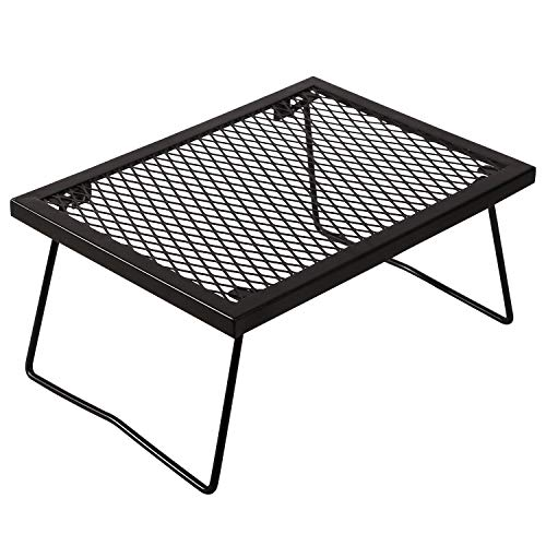 RedSwing Portable Folding Campfire Grill, Heavy Duty Outdoor Camping Grill Grate with Legs