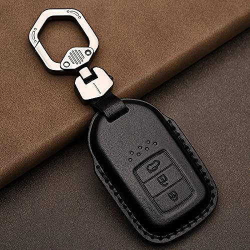 Couro Smart Key Fob Cover Protetor de capa de pele, apto para Honda Civic Accord Hrv Crv Jazz City Proteção de capa completa
