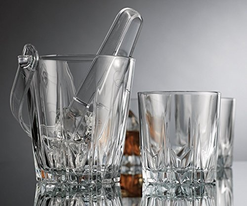 Home Essentials & Beyond Home Essentials Above the bar 6Piece Ice Bucket Set, Clear