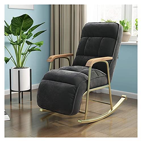 DGDF Fabric Rocking Chair European Modern Balcony Armchair Living Room Furniture Lazy Sofa Recliner Bedroom Lounge Chair