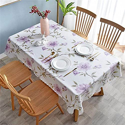 XXDD Mantel con diseño de Flores de Plantas, Mantel de Cocina, Mantel Rectangular para Sala de Estar, Mantel para Fiesta, Mesa de Comedor, Cubierta A15 150x210cm