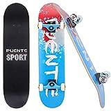 GaiusiKaisa Skateboard Kicker 31', Komplett-Board für Einsteiger Und Profis, konkave Deckform mit...