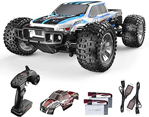 DEERC ラジコンカー オフロード 1/10スケール 大型 高速 48 + km/h 四駆 4WD バッテリー2個付き 操作時間40分 リモコンカー2.4GHz 車 おもちゃ 防振 おもちゃ プレゼント 贈り物 日本認証済み 9200E