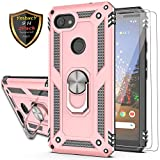 YmhxcY Google Pixel 3a Case with Tempered Glass Screen