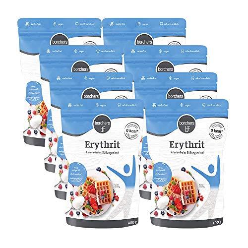 8 x borchers 100 % Erythrit, Zuckeralternative, Kalorienfrei, Erythritol, Aus Frankreich 8 x 400 g