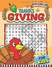 Thanksgiving Word Search for Kids: Easy and Fun Activity Book for Kids