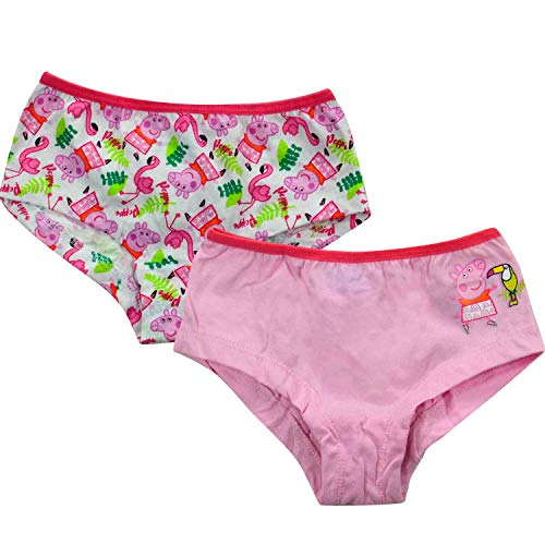 Peppa Wutz – Mädchen Panty 2er Pack Gr. 110/116 Unterhose Kinder Unterwäsche