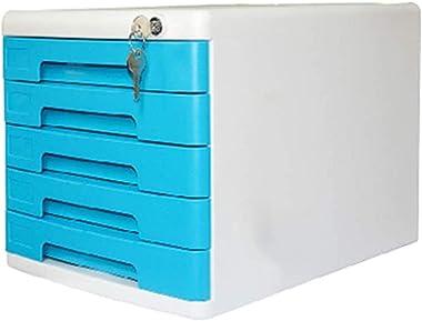 Rangement de dossiers Bureau Bibliothèque, Classeur, armoire à tiroirs multifonctions avec serrure, cinq couches rails coulis