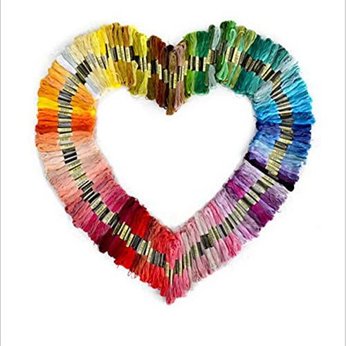 Aiong Hilo de Bordar, 50 hebras de Hilo de Punto de Cruz de Colores del Arco Iris, para Bordar, Adecuado para Amantes del Punto de Cruz