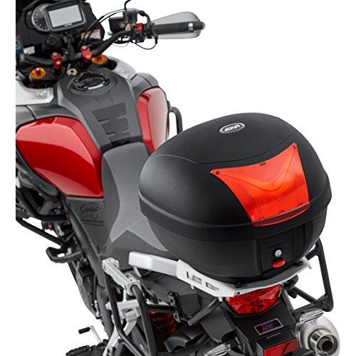 QBag Motorradtopcase Monolock Topcase Basic 28 Made by Givi, einfach abnehmbar, Universaladapterplatte, sehr haltbar, Schwarz, 28 Liter