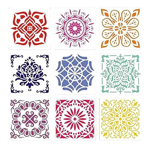 Healifty 12 Stks Schilderij Stencils Sjabloon Mandala Dot Gestanst Tekening Sjabloon Mallen Voor Diy Kaart Maken Scrapbooking Papier Fotoalbum Decoratie