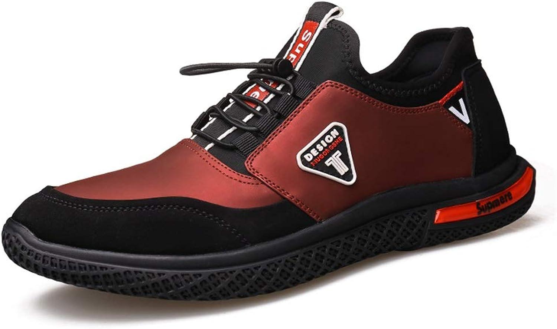 Jincosua Herren Freizeitschuhe Multi Sport Soft Sohle Rutschfeste Durable Fashion Casual Outdoor Trainer (Farbe   Rot, Größe   EU 42)  | Exquisite Handwerkskunst