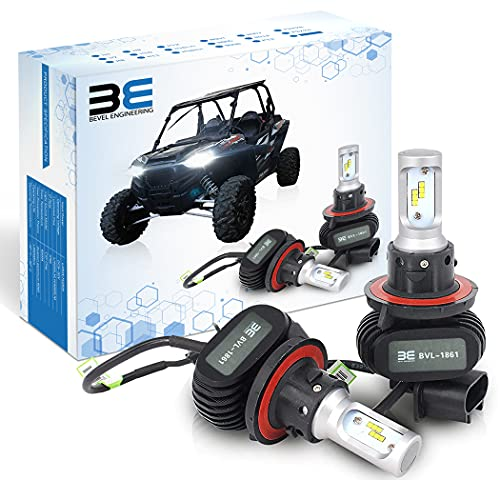 Bevel Engineering Premium Led Upgrade Kit, Compatible With Polaris - Ranger - RZR General - H13 Head Light Bulb Kit 2-Pack - Low and High Beam Lamp Set