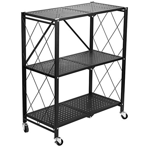 Plank Vloer Keuken Opslag Rack Keuken Vouwwagen Gratis Installatie Oven Rack