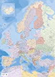 Mapa de mapa de Europa XXL Póster educativo 1:34 millones, tamaño 100 x 140 cm