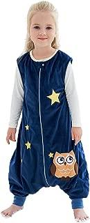 IDGIRLS Unisex Baby Warm Wearable Blanket Toddler Sleeping Bag with Legs 3 Season Blue for 5-6 Years