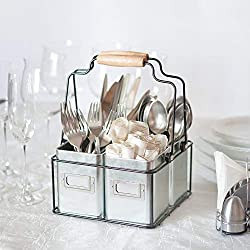 galvanized utensil holder