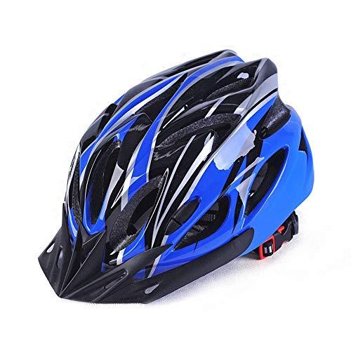 Casco de bicicleta Casco de la bicicleta casco de PC al aire libre Shell bicicleta de carretera Integrado de moldeo Hombres Mujeres Riding protectora del engranaje Casco de protección (Color: 02Blue-L