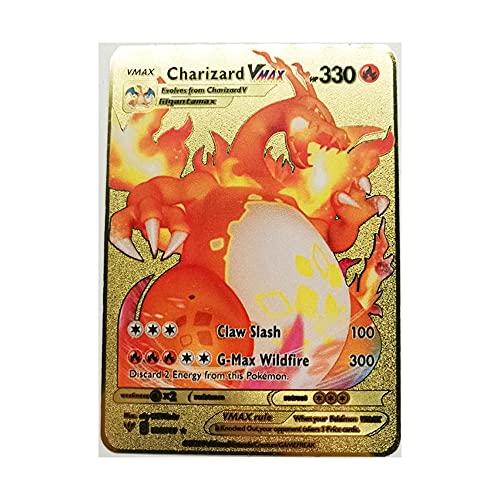 Tarjeta De Pokémon De Metal Recoger Cartas Coleccionables del Juego Adecuado para Niños Mayores De 8 Años. (Color : J)