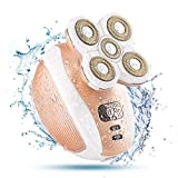 Women Waterproof Painless Hair Remover Electric Cordless Shaver Leg Hair Removal for Face Body Arm Underarms, USB Rechargeable Bikini Trimmer Razor Epilator