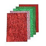SUPVOX 5 Farben superfein Glitter Kunstleder stoffbahnen