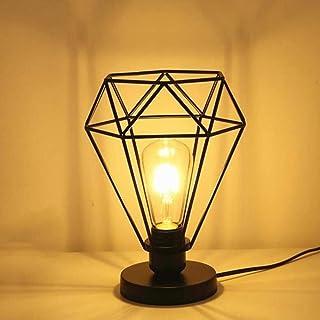 Chao Zan moderne industrielle Cage de diamant Lampe de table, lampadaire avec Vintage design Industriel, lampe de chevet, ...
