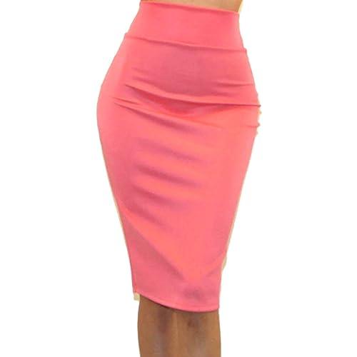 7db60b4b22 Vivicastle Women's USA High Waist Band Bodycon Career Office Midi Pencil  Skirt
