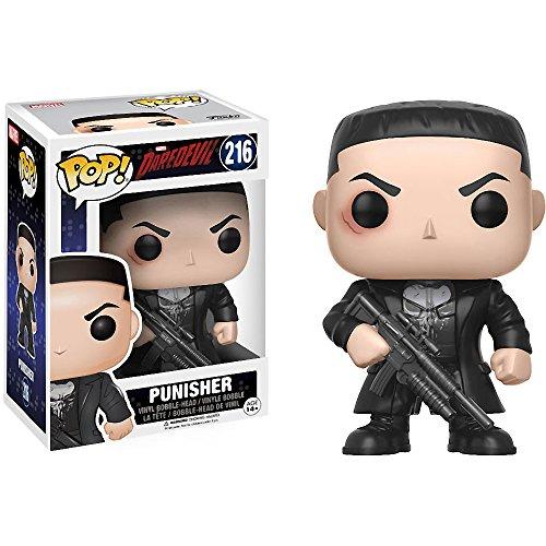 Punisher: Daredevil x Funko POP! Figura de vinilo Marvel y 1 paquete protector gráfico de plástico...