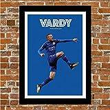 Gerahmtes Fußballposter, Leicester City – Jamie Vardy