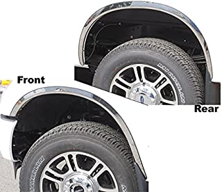 QMI 275503 Short Mirror Polished Stainless Steel Wide Width Set Of 4 Fender Trim Compatible With Ford Escape