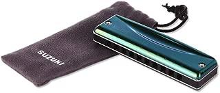 Xiaoningmeng Armónica para armónica, 10 agujeros, color verde oliva, altamente recomendada por principiantes (10 x 2,7 x 2 cm, verde), rosa