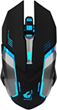 Fullfun FREE WOLF Rechargeable X7 Wireless Sound off LED Backlit USB Optical Gaming Mouse (Black)