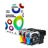 Npc Print - Juego de 4 cartuchos de tinta compatibles Brother LC985 para Brother DCP-J125, DCP-J140W, DCP-J315W, DCP-J515W, MFC-J220, MFC-J265W, MFC-J410, MFC-J415W (cian, magenta, amarillo y negro)