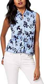 Charter Club Sleeveless Print Shirt