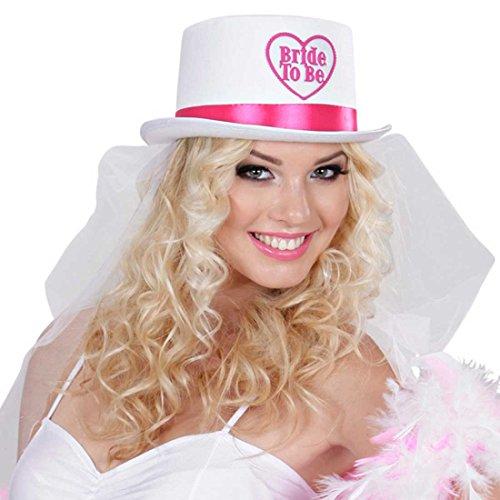 Haut-de-forme bride to be avec voile de mariée enterrement de vie de jeune fille chapeau avec voile enterrement de vie de jeune fille parure de tête parure de cheveux fiancée accessoire enterrement de vie de jeune fille accessoire déguisement mariage