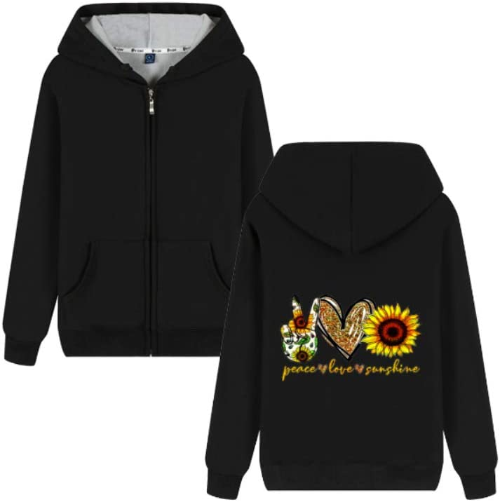 MNmkjgfgj Outerwear Peace Love and Sunshine Letter Printing Pullover Comfortable Men (Color : A02, Size : Medium)
