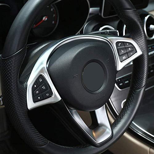Auto Innen ABS Matt Lenkrad Dekoration Rahmenabdeckung Silber für C-Klasse W205 GLC X253 E Klasse W213 2016 2017 2018 EINWEG