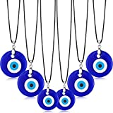 Yaomiao 6 Pieces Evil Eye Pendant Necklace Turkish...
