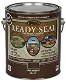 Ready Seal 125 Dark Walnut Exterior Wood Stain and Sealer, 1 Gallon...