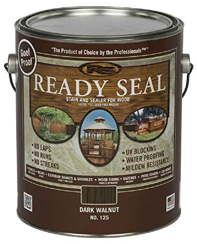 Ready Seal 125 Dark Walnut Exterior Wood Stain and Sealer, 1 Gallon (Pack of 4)
