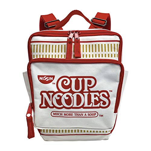 Nissin Cup Noodles Cup Nudeln Mini-Rucksack, Rot/Weiß, 17,8 x 20,3 x 7,6 cm (9607)