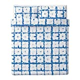 IKEA Tankvard Duvet Cover and Pillowcases Check Pattern Blue 704.347.59 Size Full/Queen (Double/Queen)