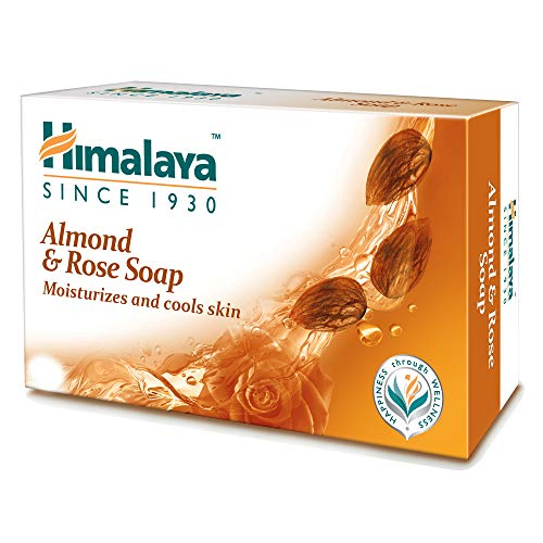 Himalaya Almond and Rose Soap, 125 g (Pack of 8)