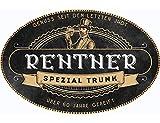 Flaschenetikett Rentner Spezialtrunk, Aufkleber, Etikett, oval, Vintage, Geschenk zum...