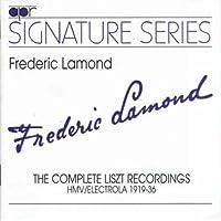 Lamond: Hmv Liszt 1919-36 by FRANZ LISZT (2005-07-11)