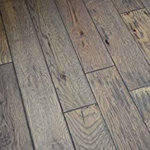 Hickory Hand Scraped Prefinished Solid Wood Floor, Greystone, Sample, by Hurst Hardwoods