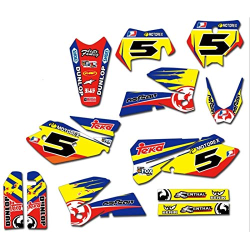Motorrad-Grafikhintergrund Aufkleber-Abziehbilder Kit for KTM EXC 2004 125 200 250 300 400 450 525 for KTM EXC 2004 (Color : Red)