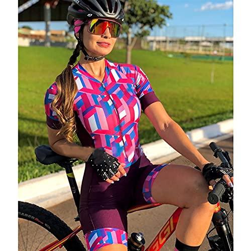 Tuta Da Gara Da Donna Per Triathlon,Snellente Imbottita Ad Asciugatura Rapida Per Il Ciclismo (Color : 3, Size : XXX-large)